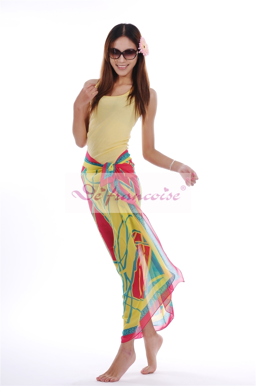 Printed coloeful soft feeling women sarong pareo
