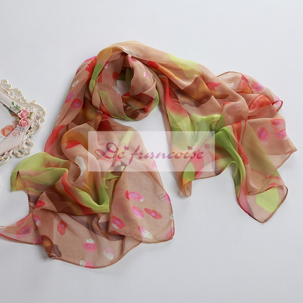 New style printed chiffon oblong scarf