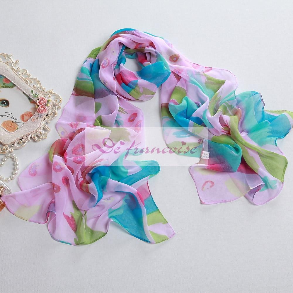 New women style printed chiffon oblong scarf
