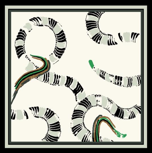 Snake design silk scarf
