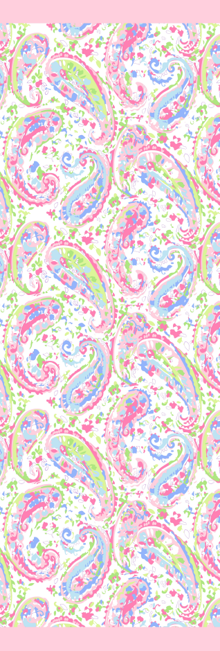 Pink paisley viscose scarf