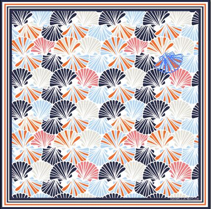 fanshape silk square scarf